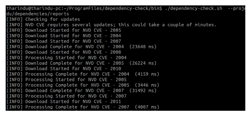 OWASP Dependency Check CLI