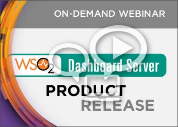 WSO2 Product Release Webinar: WSO2 Dashboard Server 2.0