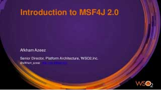 Introduction to WSO2 Microservices Framework for Java (MSF4J) 2.0